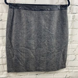 Banaba republic houndstooth wool skirt